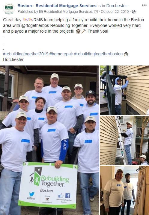 The Boston, MA team volunteered for Rebuilding Together